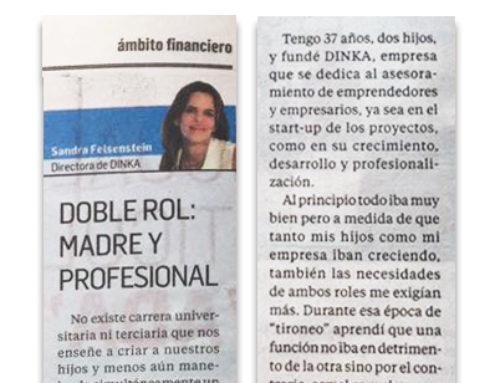 Ámbito Financiero – Doble rol: madre y profesional
