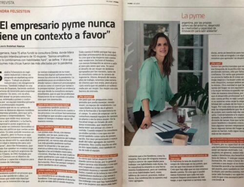 """Revista Pymes, Clarín – """"El empresario pyme nunca tiene un contexto a favor"""""""